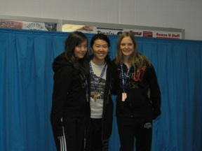 Mallory (far left) 2nd overall at the 2010 Alberta Winter Games