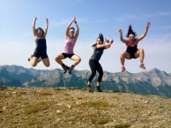 Mallory (left) & teammates this summer (2013) after hiking a mountain in Canmore, Alberta.