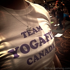 YogaFit Canada volunteers helped adjust attendees and kept us in good form.