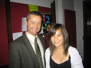 Mallory & Bill Carlson, world's first T1D Ironman in 2008. She won a $5,000 scholarship from DESA (Diabetes Exercise and Sports Association), now known as Insulinindependence.