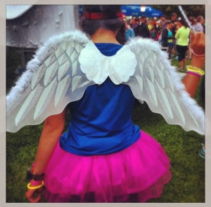 "I was a ""running fairy"" for my friend's very first 10km race."