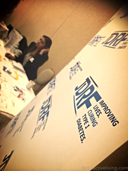 JDRF in the exhibit hall.