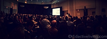 Panoramic shot of the JDRF infosium in Toronto.
