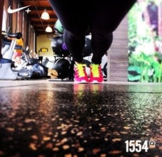 My Instagram post using the Nike Fuel social media sharing feature